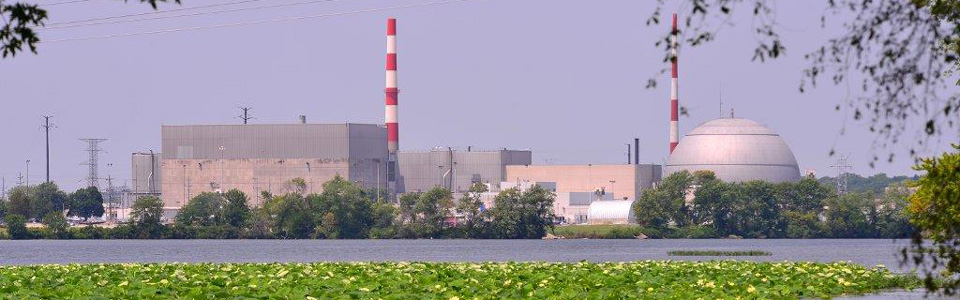 Dresden Generating Station, a nuclear power plant near Joliet in northern Illinois; Exelon Generation is an IL Energy Association member energy company.